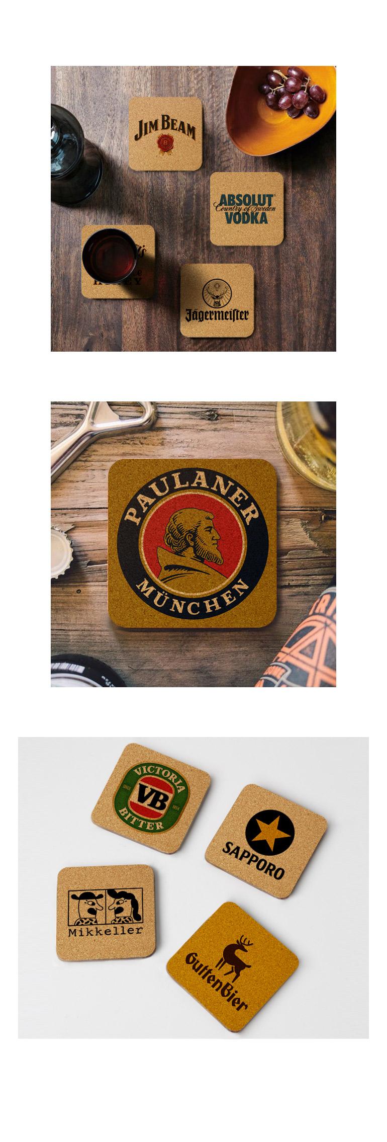 세계맥주 로고 코르크 컵받침 95x95x3mm 99종 - 모두의 팩토리, 1,200원, 장식/부자재, 벽장식